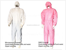 Disposable antistatic sms pink coveralls