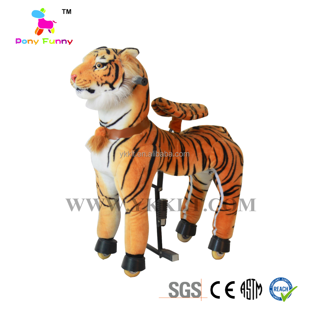 Mechanical Animal Ride Plush Tiger of Forest King Toy For Fun