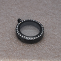 25mm black whole sale cheapest price glass lockets pendant