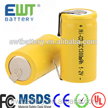 EWT OEM/ODM manufacturer flat top nicd 5/7 aa 500mAh rechargeable ni-cd battery cell for rc cars