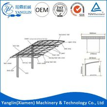 Aluminum Pergola Single Slope Folding Portable Carport