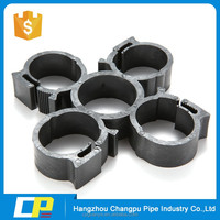 double U type control card pipe joints clamp