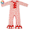 Boutique Red Love Design Long Sleeve Baby Winter Romper 0-2 Year Old Newborn Girls Plain Baby Romper