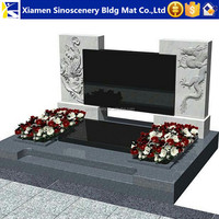 Polished Butterfly blue granite headstones wholesale