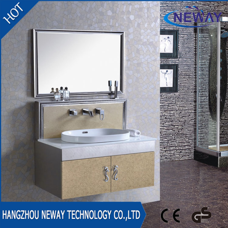 Cheap wall mounted stainless steel laundry cabinets with mirror