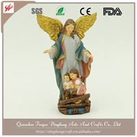 Wholesale Resin Angel and Cross Religious Crafts Guardian Angel Statue