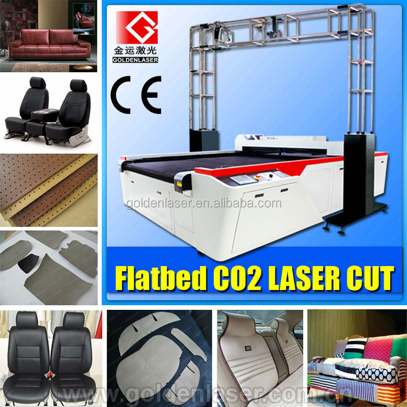 Co2 150W Laser Machine for Genuine Leather Car Seat Cutting