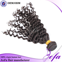 Most popular intact cuticle wholesale cheap deep wave human AOFA hair weaving