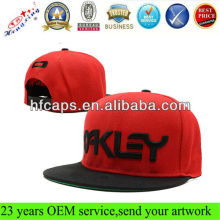 2012 new style 6 panel hip hop custom embroidery red and black snapback hat