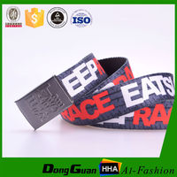 Wholesale high quality Man School Canvas Woven Custom Printing belts Manufacturer