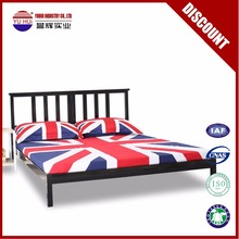 Size can be customized double bed hot sale portable queen size metal bed