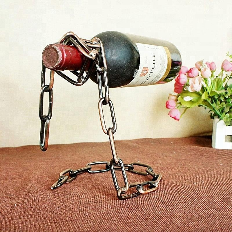 Classic Metal Wine Racks Stainless Steel Single Bottle Wine Holder