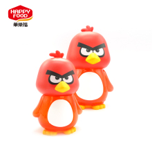 2017 New Design bird plastic candy bottle small square glass