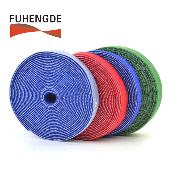 Recyclable Colorful <strong>Nylon</strong> Back to Back Hook and Loop Fastener Tape