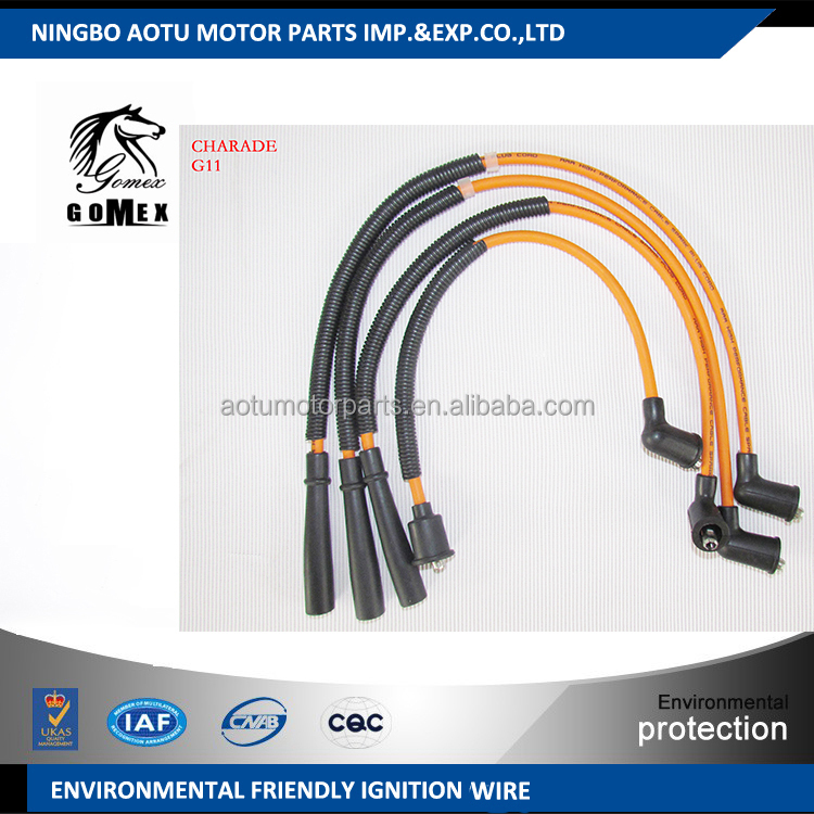 High voltage silicone Ignition wire set, ignition cable kit, spark plug wire for DAIHATSU CHARADE G11 for Pakistan