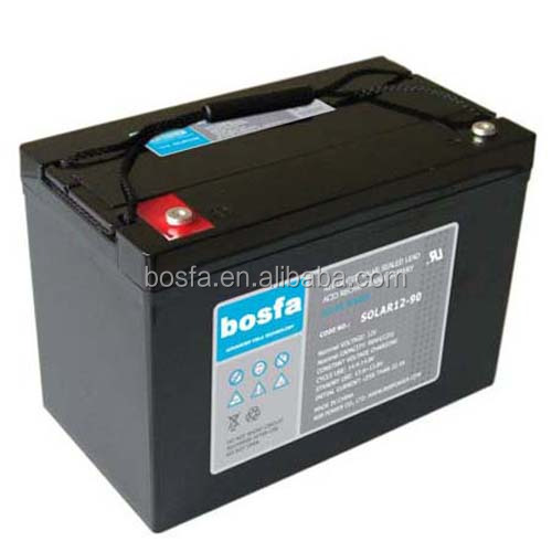12v 90ah SOLAR12-90 dry cell battery for solar