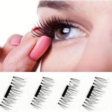 New arrivals fancy no messy reusable glue free 3d single magnetic false eye lashes eyelashes/.