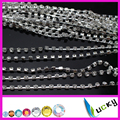 "NEW style crystal ""D"" cup metal chain chatons trim with silver base, not easy to hook the yarn of clothes"