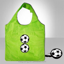 2017 popular and hot sell nylon football foldable reusable tote shopping bag for promotion