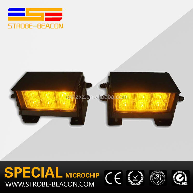 Visor Amber Flash Lightbar Emergency Warning Strobe Split Mount Deck Dash LED Light 12W