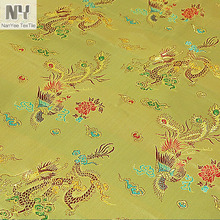 Nanyee Textile Woven Oriental Style Gold Dragon Jacquard Fabric
