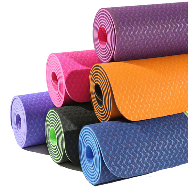 TPE/PVC/NBR/EVA/rubber OEM yoga mat ,high quality Non toxic eco-friendly yoga mat