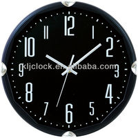Clock Black Dial White Numbers With Special Design Frame