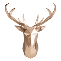 3d Resin Deer Head Wall Decoration,Modern Home Accessories,Wall Art Interior DIY