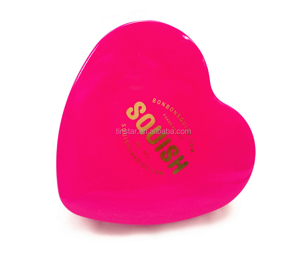 High quality small heart shape tin box