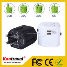 JS-W002-3 Universal travel adapter with usb charger travel smart adapter with smart ic function
