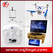 2015 Updated version FPV drone with vedio camera RTF android wifi drone FPV quadcopter With universal remote control CX-30W