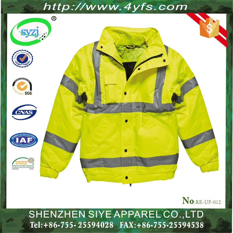 Custom hi viz reflective tape fire safety work uniform
