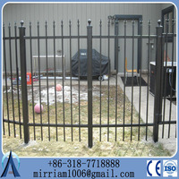 Decorative Low Price High Quality Wrought Iron fence, metal fence&steel fence