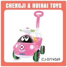 Pink ladybug plastic sliding baby push car toy kids can drive