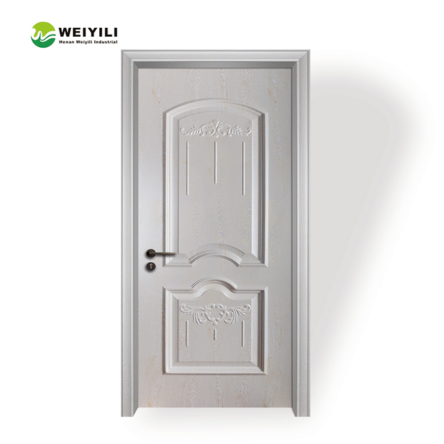 Plastic Laminate Interior Room no Painting China Factory 2017 Wooden Hot Sale Cheap Solid Internal Door