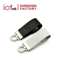 Best Quality Embossed Logo Leather USB Thumb Drive 1GB for Best Promotional Gifts