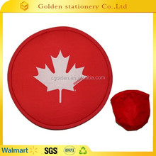 promotional foldable nylon flying ring frisbee fan disc funny dog frisbee
