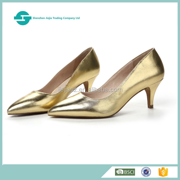 High-end genuine leather dress shoes women high heel footwear for ladies shoes