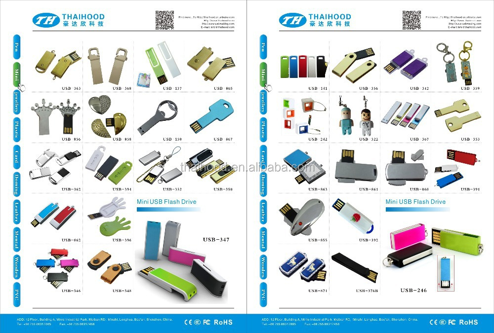 2014 New 1GB - 128GB Mini USB Flash Drive