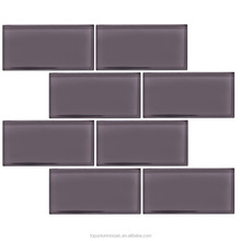75x150mm popular design best price white subway tile mosaic grey and beige color
