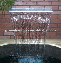 LED water feature acrylic wall mounted sheer descent waterfall curtain for outdoor decoration