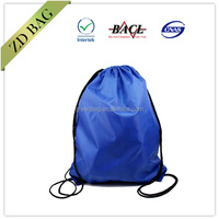 cheap promotional navy blue blank drawstring shoe bag