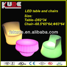 Hot sale colorful LED furniture led illuminated coffee table and chair