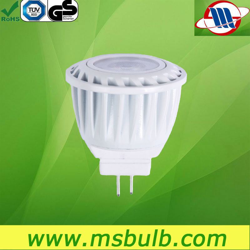 LED MR11 GU4 LED Spot light with factory price 12V TUV CE Certified