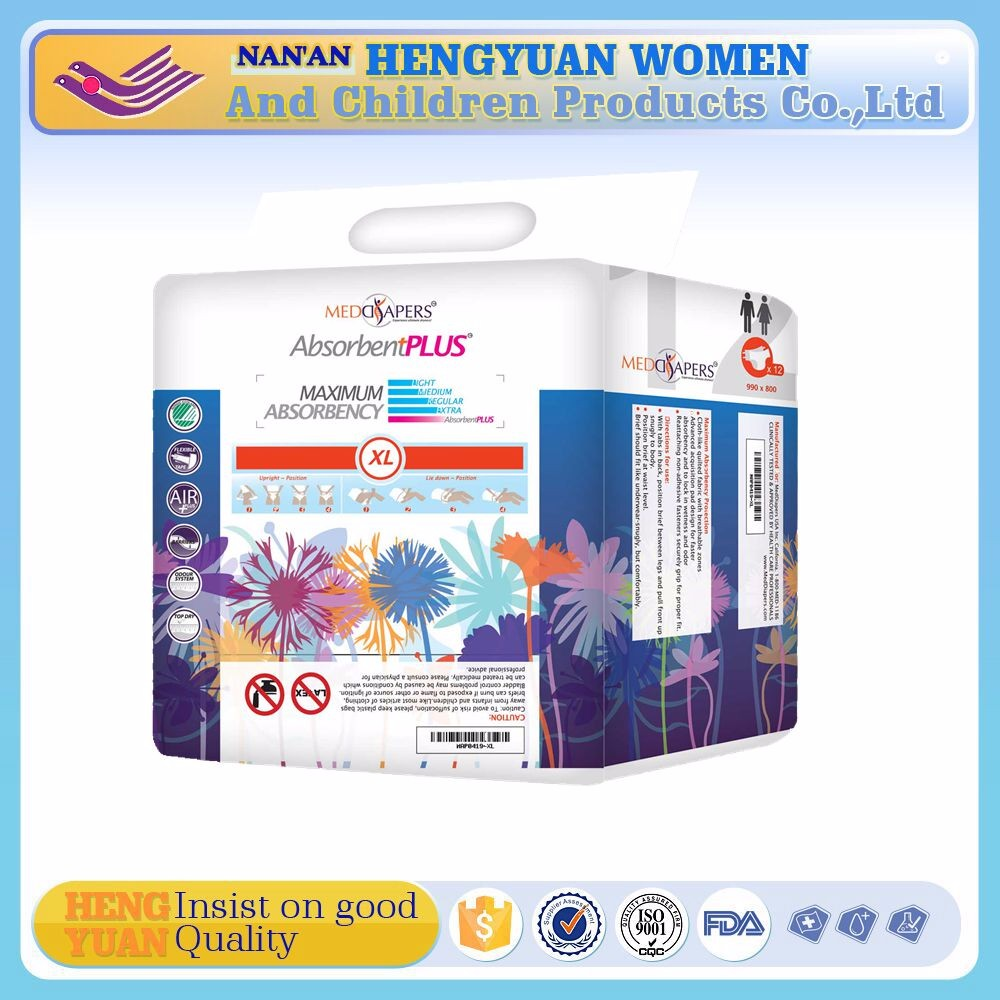 Leak Guard Anti-Leak and Soft Breathable Absorption disposable adult baby diapers