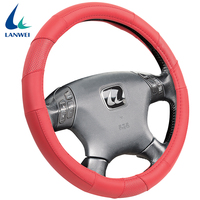 New design four seasons general simple pu leather car steering wheel cover