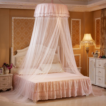 steel wire Support hanging queen size princess bed mosquito net