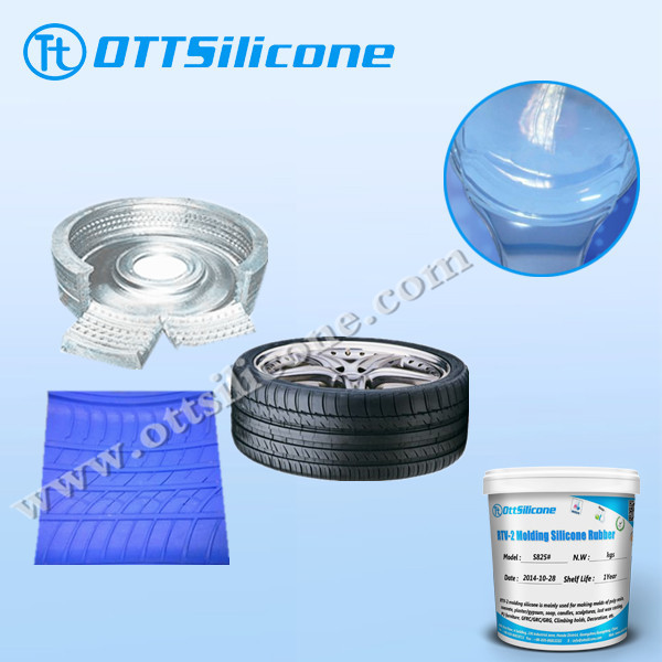 High tensile strength silicone rubber for OTR tiring mold