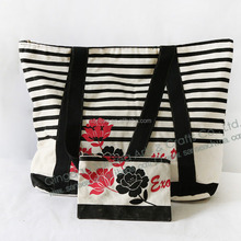 best selling Stripe Canvas promotional Bag