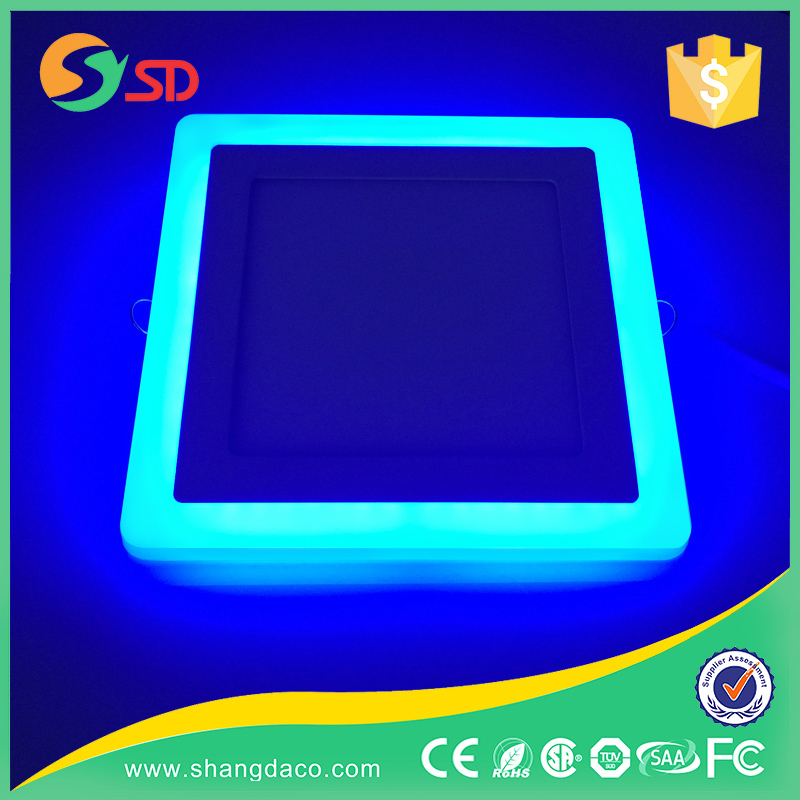 Factory double color led panel light 10W/15W/20W Dimmable 2 colors LED Glasses Recessed Ceiling Panel Down Lights Bulb
